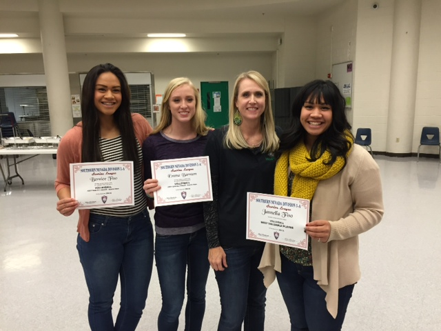 Lady Dawg volleyball players collect honors at team banquet
