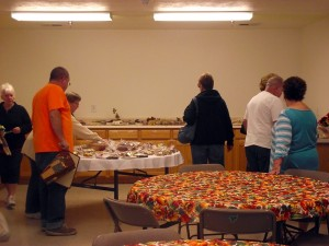 The Mesquite United Methodist Church Women provided dozens of yummy home-baked goods for patrons of the annual Fall Boutique and Bake Sale held on Nov. 14. Early birds got their choice of a variety of cookies, cakes, pies and breads. Photo Teri Nehrenz.
