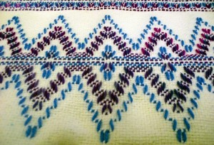 Hand-crafted items at the annual Mesquite United Methodist Fall Boutique and Bake Sale held on Nov. 14 included these placemats with an intricate weaving technique called 'Swedish Weaving' made by crafter Jan Blain. Photo by Teri Nehrenz.