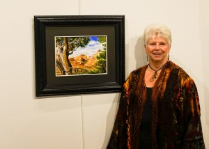 "Karlynn Jones is the November Artist of the Month at the Mesquite Fine Arts Gallery. A reception to honor her and the winners of the ""Lucky 13"" National Small Art Competition will be held at the Mesquite Fine Art Gallery Nov. 19 from 4 - 6 p.m. Photo submitted."