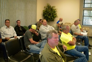 Contractors and developers participate in a work session on proposed new VVWD rules for water works. Photo by Burton Weast.