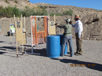 Mesquite Shooters Pistol Club Defends Range against Zombies
