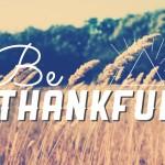 2015 Thanksgiving Thankful List