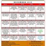 Mesquite Senior Center Menu: December 2015