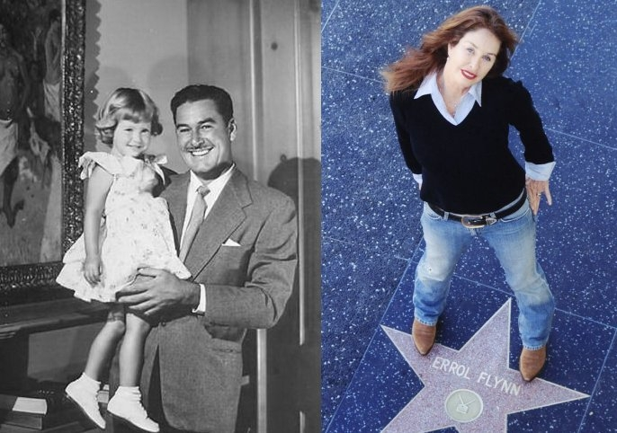 2.-Split-image-of-Errol-Flynn-and-daughter-Rory-in-1950.-And-Rory-on-her-father_s-Hollywood-star.-Photos-provided-by-Rory-Flynn.jpg