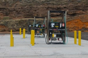 Gas pumps are in at the new Beaver Dam store and just waiting for some final detail work and inspections before opening.  Photo by Teri Nehrenz.