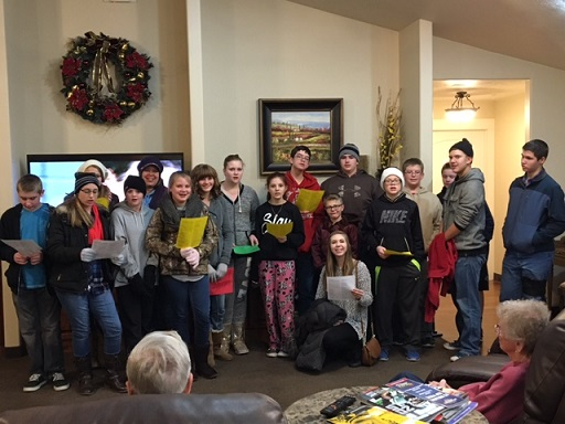 LDS Youth Carol at Beehive Home