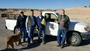 From left, Mike Martin, Bruce Quittschreiber, Bob Frisby and Dar Willy participated in a Nov. 24 food drive to benefit the Littlefield/Beaver Dam area. Photo submitted.