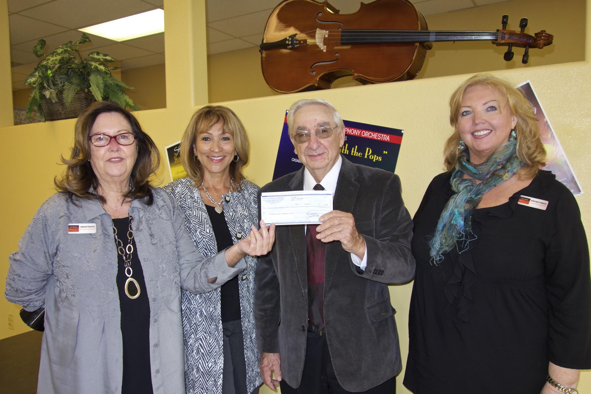 Sun City donates to Symphony Orchestra