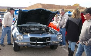 The rare Camaro LT-1 owned by Bob and Nancy Gengler of Mesquite was popular with show spectators at the annual Mesquite Motor Mania classic car show event. Photo by Burton Weast.