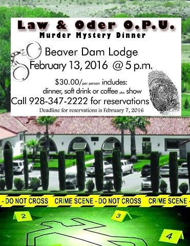 Murder Mystery Dinner at the Beaver Dam Lodge