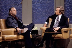 Dick Cavett with Marlon Brando. Photo courtesy of Dick Cavett