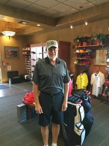 Roger Ingbretson took home many awards in Saturday's Tournament at Falcon Ridge Golf Course, including his first hole in one. Submitted photo.
