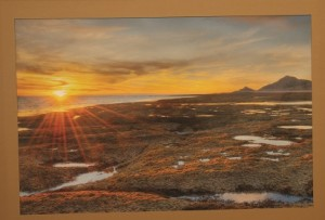"""Joanne Swallow took Best of Show-Photography in February's Art Exhibit at the Mesquite Fine Arts Gallery for her piece called """"Sunset."""" The exhibit runs through the end of the month. Photo by Barbara Ellestad."""