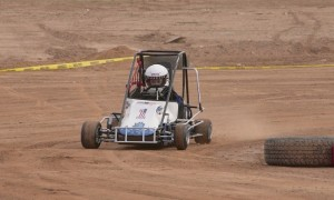 """Aeden """"Ace"""" Hobbs rounds the corner at the Mesquite MX Park track. Photo by Burton Weast."""