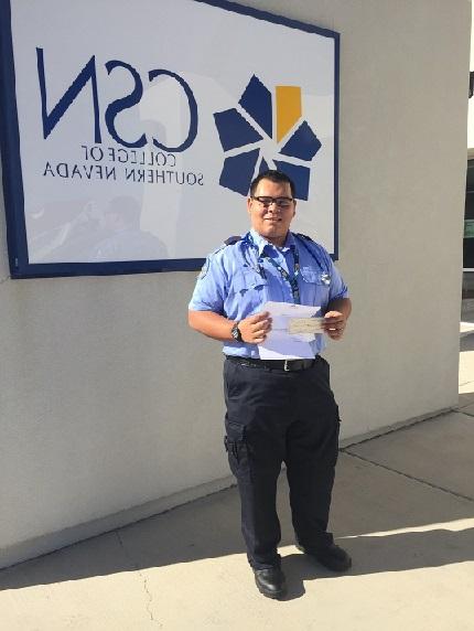 Moreno receives EMS Scholarship
