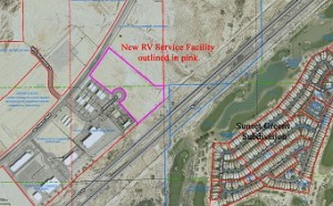 A new recreational vehicle service facility is planned for 11 acres in the Mesquite Technical and Commerce Center next to the current Star Nursery. Construction will begin this fall on a 40,000 to 80,000 square foot facility that will employ up to 70 workers.