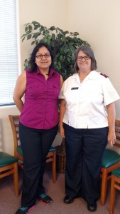 Case manager Cristina Anguiano and Captain Lisa Smith vow to continue serving the Mesquite area with help for families in need for as long as they can. Photo by Stephanie Frehner.