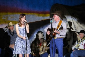 Father/Daughter duo Dave and Jenny Lynn Anderson perform in their special style for the 10th Annual Mesquite Western Roundup held Feb. 19 and 20 at the Mesquite Community Theatre. Photo by Teri Nehrenz.