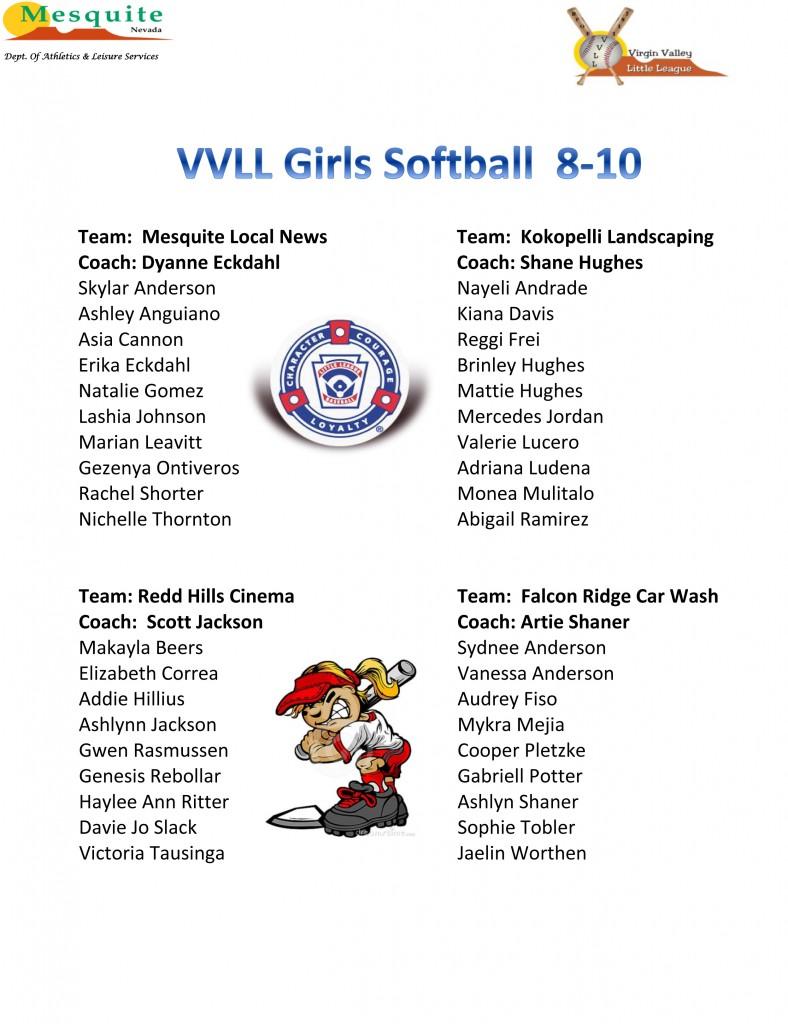 16 Girls Softball 8-10poster