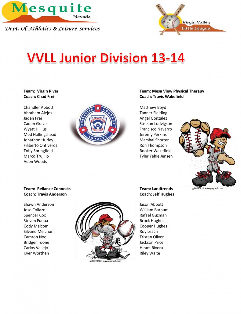 16 VVLL Junior League Division 13-14poster (2) (1)