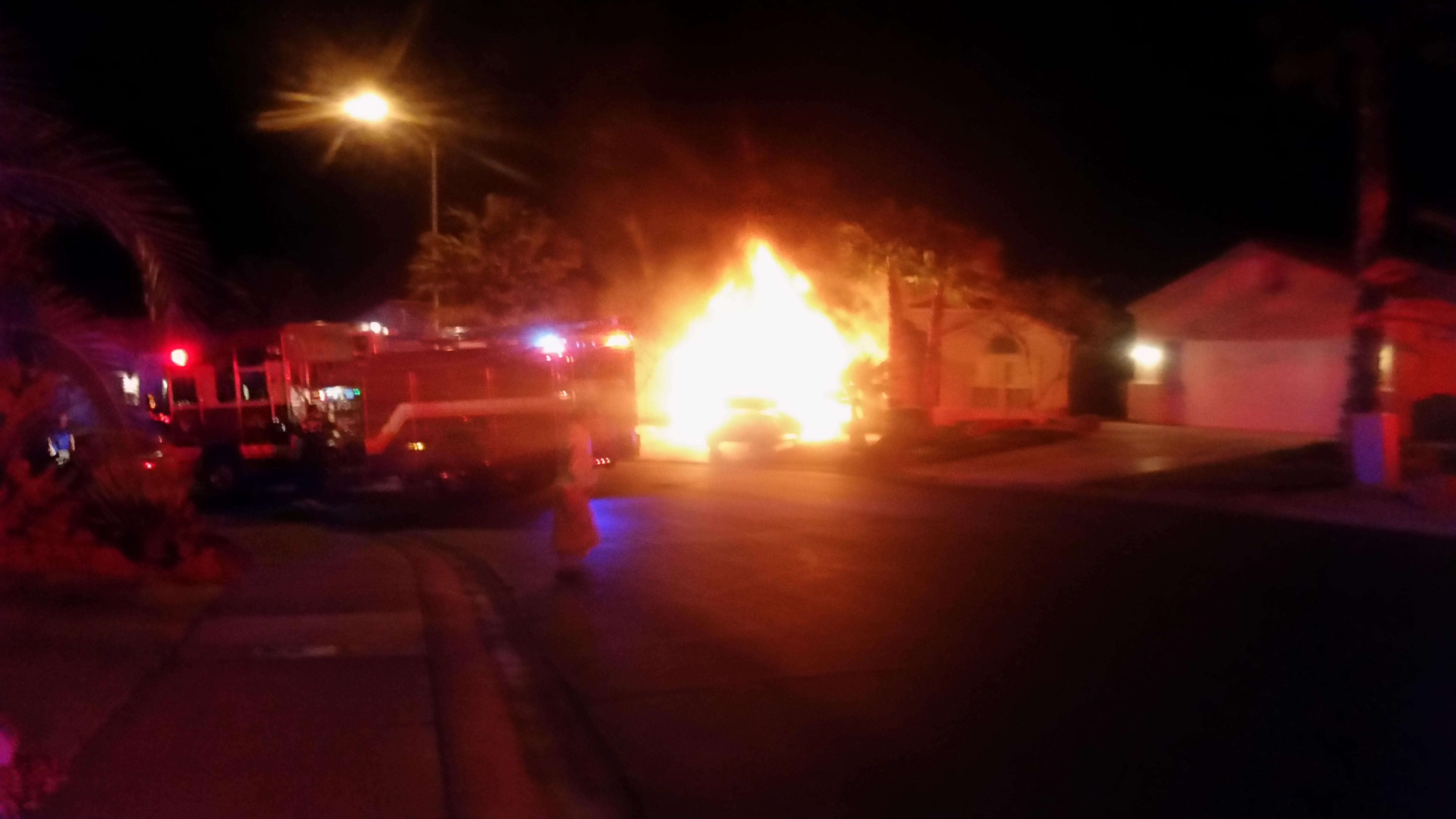 Garage fire displaces three