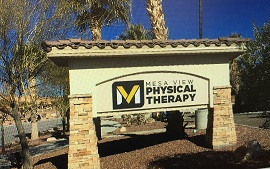 The clock tower on the old Southwest Federal Credit Union near Wal-Mart will be replaced with a new sign for Mesa View Physical Therapy in the next few weeks as the clinic moves into its new digs. Photo by Barbara Ellestad.
