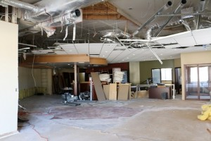 New patient treatment rooms and office space are taking the place of the bank vault and teller lines in the old Southwest Federal Credit Union as part of a renovation making the old into new at Mesa View Physical Therapy clinic. Photo by Barbara Ellestad.