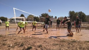 Although they had a defaulted win for being the Studs in the Mudd for 2016, the Mesquite Police Department showed up in style with custom shirts and some quick moves in the icy, muddy water. Photo by Stephanie Frehner.