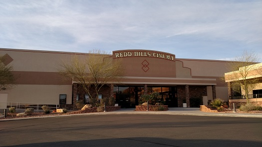 The Redd Hills Cinema located at 790 W. Pioneer Blvd is now just another empty building since closing on March 15. The building and property it sits on will be up for auction to the highest bidder on March 17 in Las Vegas. Photo by Stephanie Frehner.