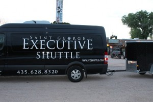 Mesquite residents have long complained about having to travel to Beaver Dam, AZ to catch a shuttle ride to McCarran Airport in Las Vegas when the same shuttle travels directly through Mesquite. That may be coming to an end. Photo by Phil Nehrenz.