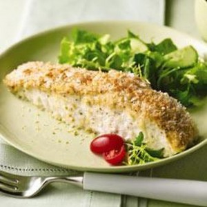 halibut with cheese bake