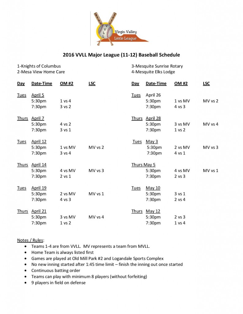 2016 VVLL 11-12 Baeball Schedule-page-001