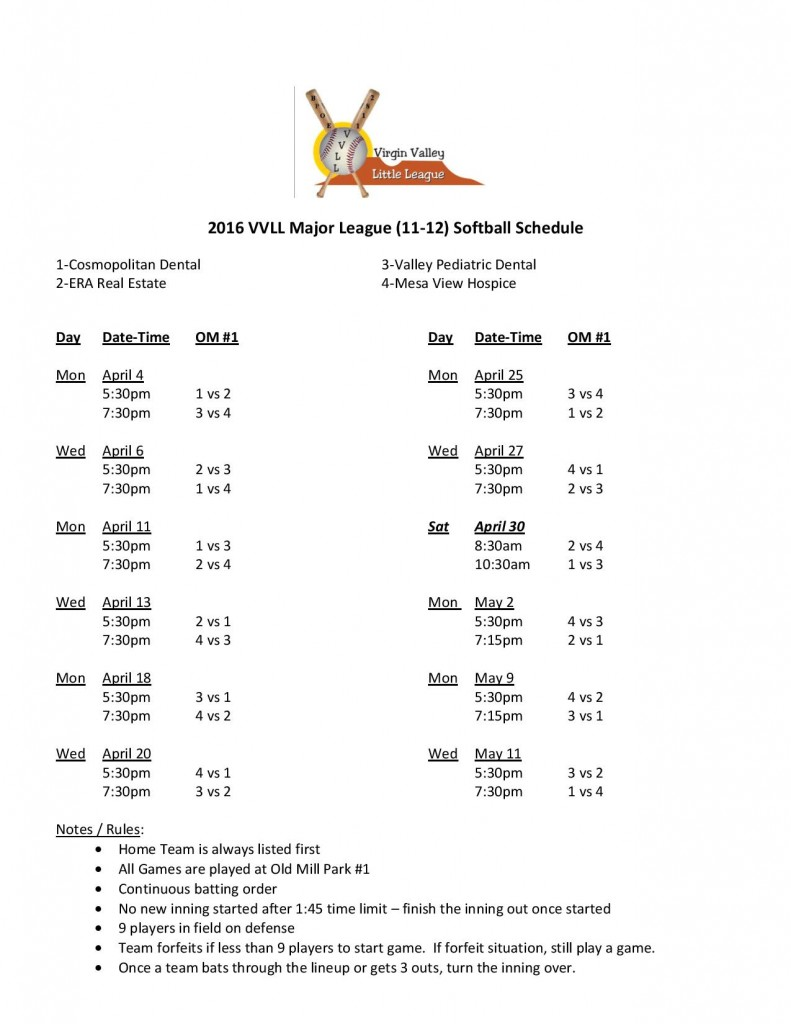 2016 VVLL 11-12 Softball Schedule-page-001