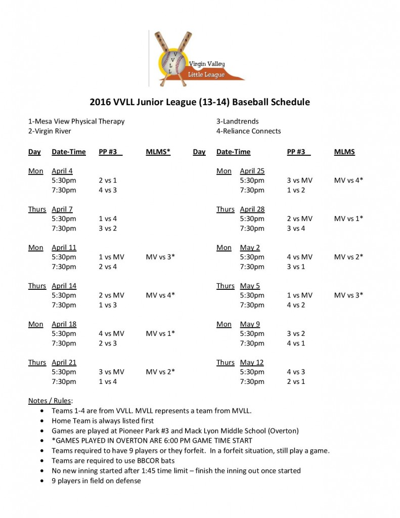 2016 VVLL 13-14 Baseball Schedule-page-001