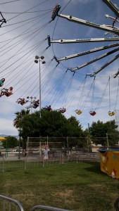 Several rides may be making a comeback this year, including the giant swings that many of Mesquite Days attendees rode last year. Photo by Stephanie Frehner.