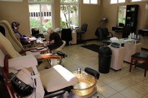 The Spa and Salon at CasaBlanca provides a full range of services for locals who are not hotel guests including manicures and pedicures and hair cuts and styles. Photo by Barbara Ellestad.