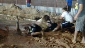 During the exciting Tug O War Competition, there is no clear winner until someone has fallen into the pit of mud or water. Photo by Stephanie Frehner.
