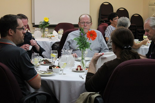 On April 14, Mesa View Hospital administration hosted a luncheon in honor of the 27 volunteers who provide invaluable support to MVH hospital staff and their patients. Photo by Teri Nehrenz.