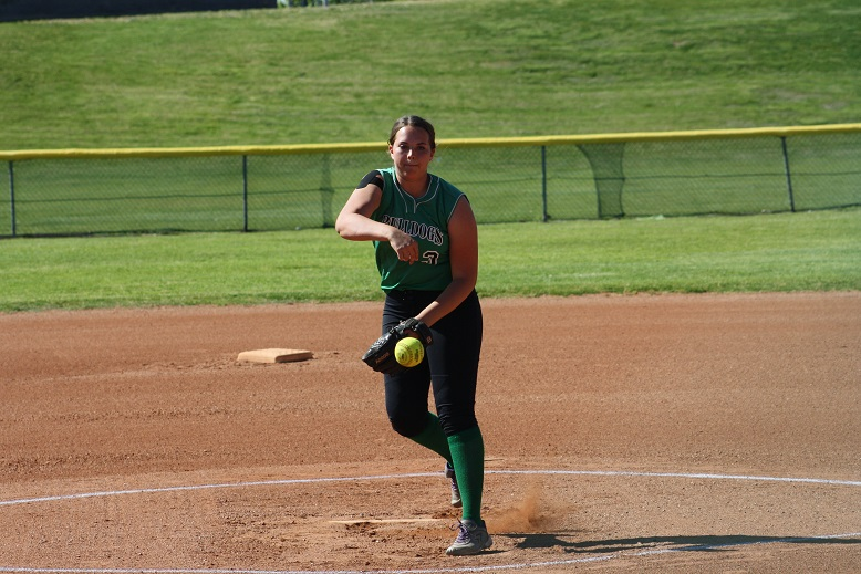 Wakefield pitches and hits Lady Dawgs past Cowboys 17-4