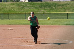 Bulldog hurler Savannah Price pitched a complete game Friday April 8 against Sunrise Mountain but lost in a pitching duel 3-1. Price struck out seven and allowed only three hits. Photo (recent game) by Lou Martin