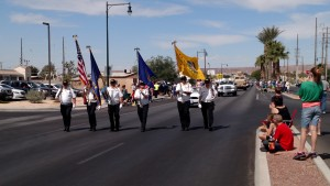 As with all parades in Mesquite, the Virgin Valley Color Guard will lead the procession from the LDS Church on Arrowhead lane, down the south side of Mesquite Boulevard travelling eastbound to Willow Lane on May 7 for the Mesquite Days Parade. Photo by Stephanie Frehner.