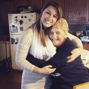 Jesselyn Bickley and her grandmother.