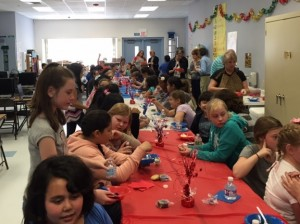 Approximately 65 students have completed all requirements in one phase of the Mesquite Exchange Club's 'Give Me Liberty' program and celebrated with an ice cream social on March 31, 2016. Photo submitted.