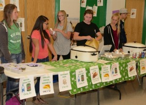 Student food servers were kept busy throughout the April 28 Career and Technical Education and Arts Night at Virgin Valley High School.