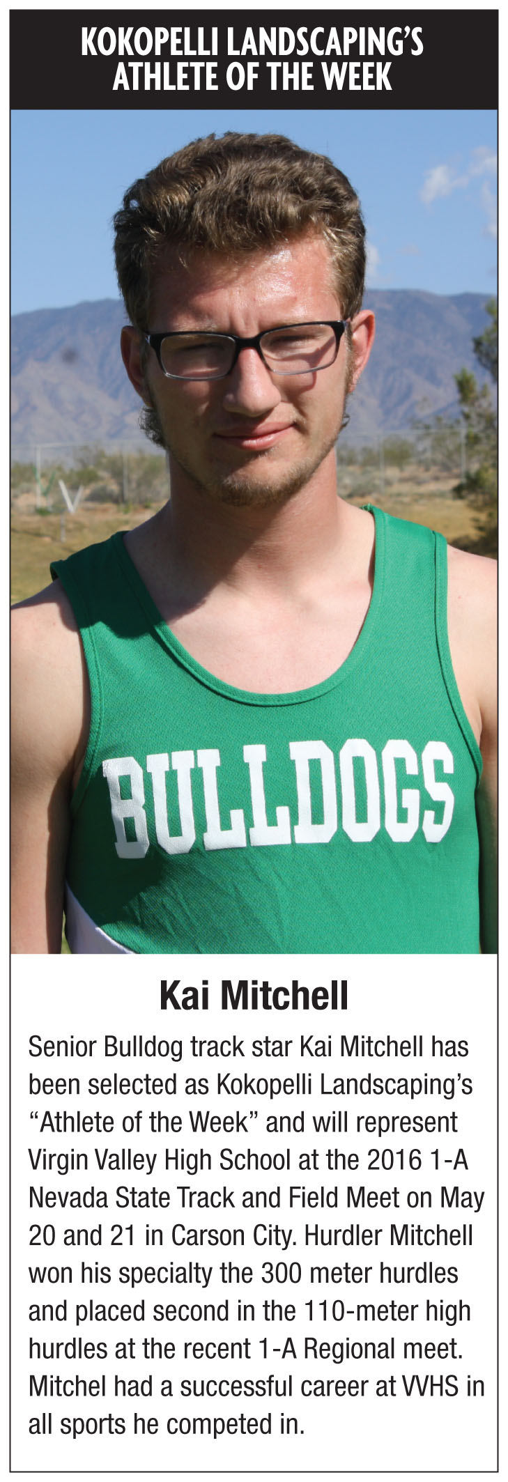 Kokopelli Landscaping's Athlete of the week
