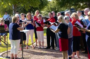 The Sun City Sounds provided patriotic music for the ceremony.