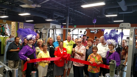 Chamber Ribbon Cutting, Anytime Fitness