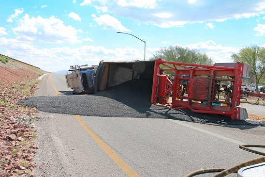 Rollover closes northbound ramp