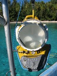 Helmet Diving, an ageless adventure for tourist.